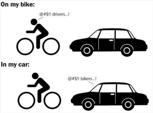 On my bike or In my car: @#$!!...!